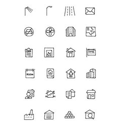 Real estate hand drawn doodle icons 6 vector