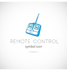 Remote Control Silhouette Symbol Icon or Label vector image