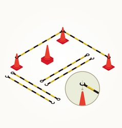 Road cone and bar vector image