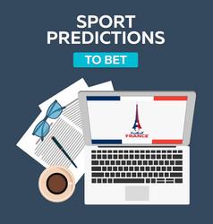 Sport predictions betting online football online vector