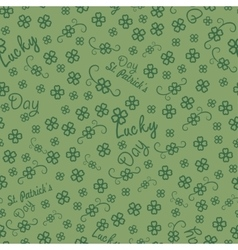 St Patricks day seamless background for gift vector image