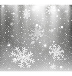Stock falling snow snowflakes vector