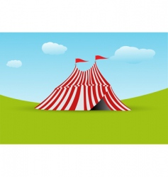 tent with flag vector image vector image
