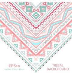 Tribal ethnic corner pattern for your cute vector image vector image