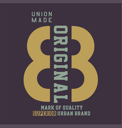 union made original mark vector image