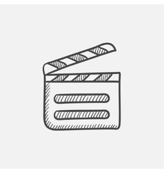 Clapboard sketch icon vector