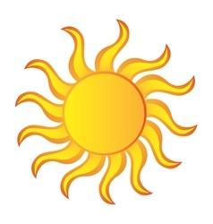 Sun summer isolated icon vector