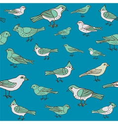 Seamless vintage background with birds vector image