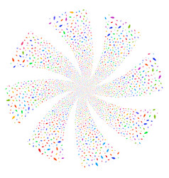 feather fireworks swirl flower vector image