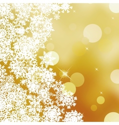 Festive gold christmas with bokeh lights eps 10 vector