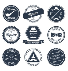 Hipster labels set vector