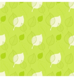 Seamless autumn patternabstract green leaf vector