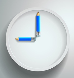 Time study with pencils vector