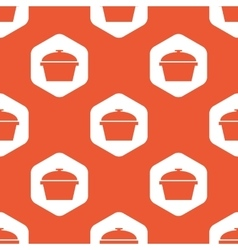 Orange hexagon pan pattern vector
