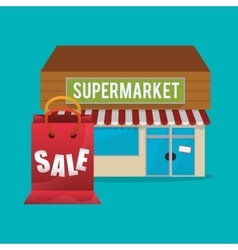 Supermarket design vector