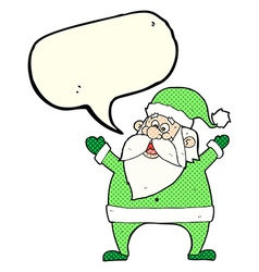 Jolly santa cartoon with speech bubble vector
