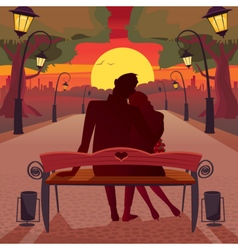 Love in the park vector