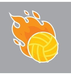 Volleyball isolated team icon vector