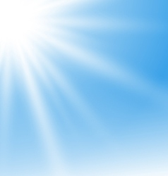 Abstract Blue Background with Sun Rays vector image