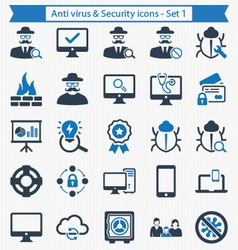 Anti virus and security icons - set 1 vector