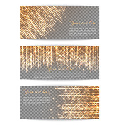 banners with bright golden rays vector image vector image