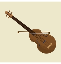Calssic violin music instrument design icon vector