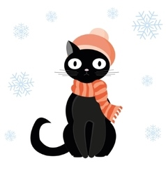 Cat in hat vector