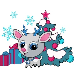 christmas deer vector illustration vector image vector image