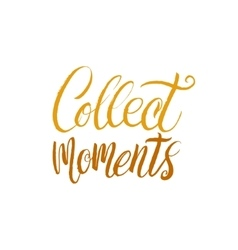 Collect Moments Hand Drawn Calligraphy vector image vector image