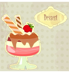 dessert menu cover vector image vector image