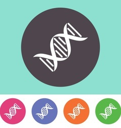 Dna molecule icon vector