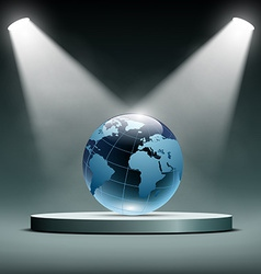 Earth is illuminated by floodlights vector image vector image