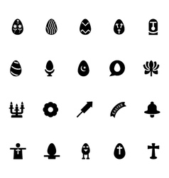 Easter icons 3 vector