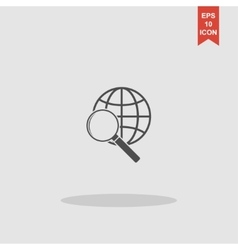 Global search icon World globe symbol vector image vector image