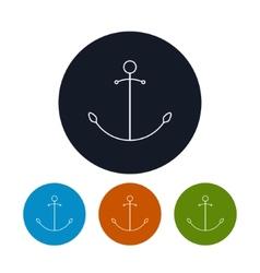 Icon anchor vector