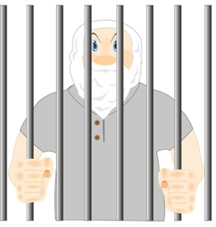 Persons in prison vector image