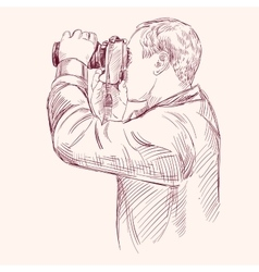 Photographer - hand drawn llustration vector image vector image