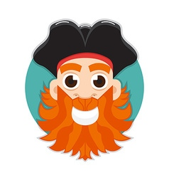 Pirate logo vector image vector image