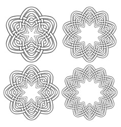 Set of magic knotting rings 4 circular decorative vector