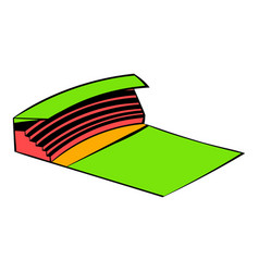 stadium icon in icon cartoon vector image vector image