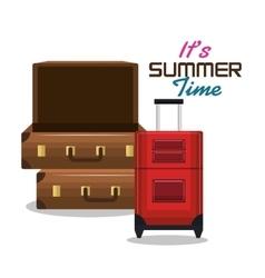 travel three suitcase vacation design vector image