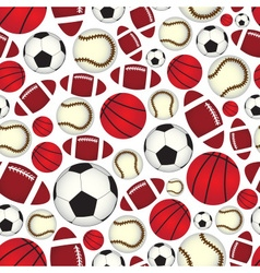 Various sport balls seamless color pattern eps10 vector