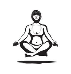 woman practicing yoga vector image vector image