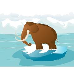 Ice mammoth vector image