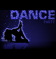 Blue dance party background vector