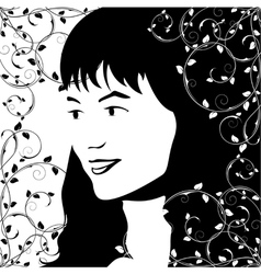 young girl vector image