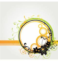 floral graphic frame vector image