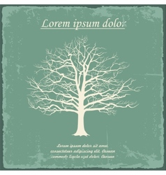 Old bare tree on vintage paper vector