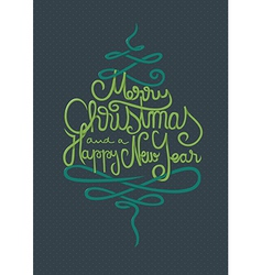 Merry Christmas and a Happy New Year Card vector image