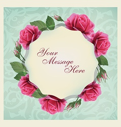 Beautiful greeting card with flowers and pattern vector